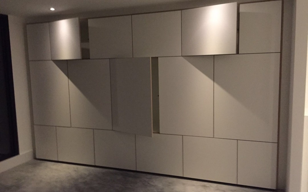 Inbouwkast met keukenblok